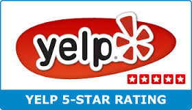 Yelp 5-Star Rating badge
