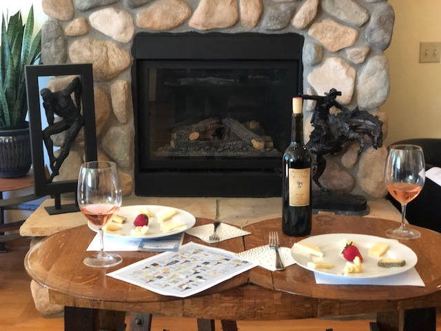 Wine-Cheese-Pairing-table-and-fireplace